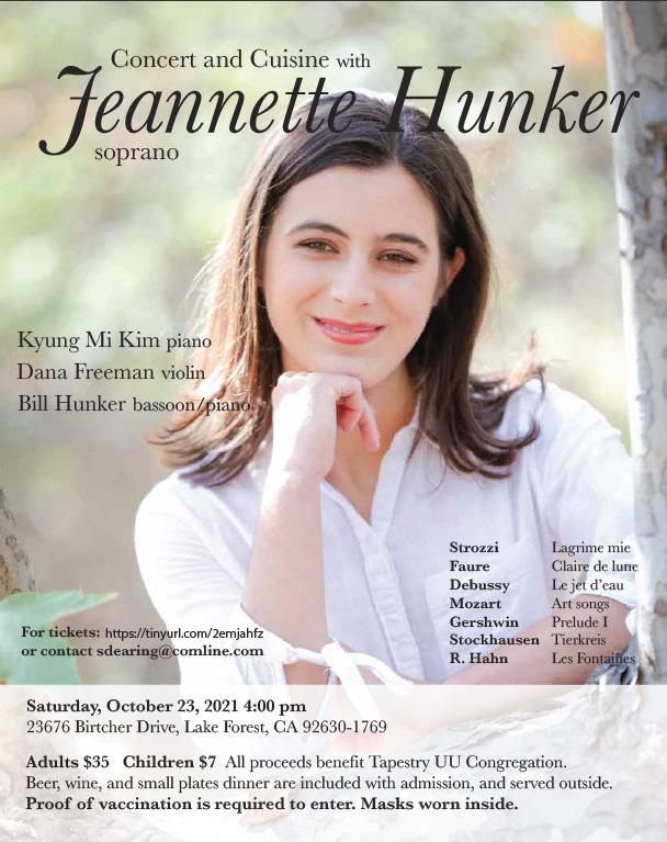 Concert & Cuisine with Jeannette Hunker